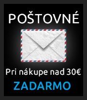POŠTOVNÉ 2€ - Pri nákupe nad 30€ ZADARMO